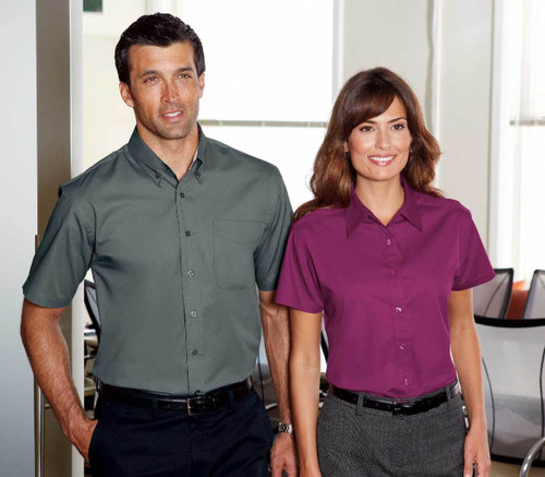 S508 Easy care short sleeved uniform shirt