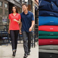 b2a270ee Stay active and comfortable in this polo spandex shirt! Port Authority® ...