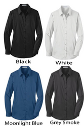A perfect fitted waitstaff shirt with room to stretch and move around while working