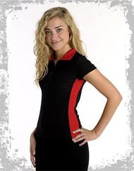 Black and red zippered women's shirt