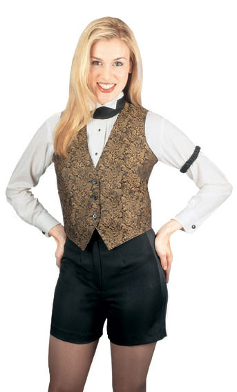 Women's tuxedo shorts are great for bartenders or cocktail waitresses!