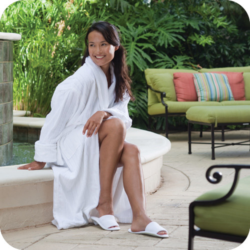 Luxurious bath robe for resort rooms