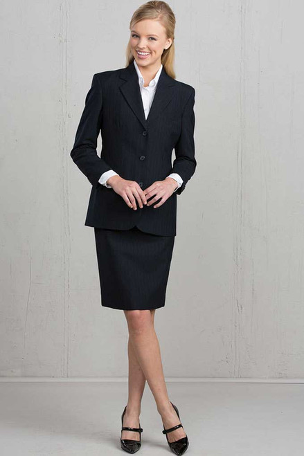 Classy Pinstripe Coat for her