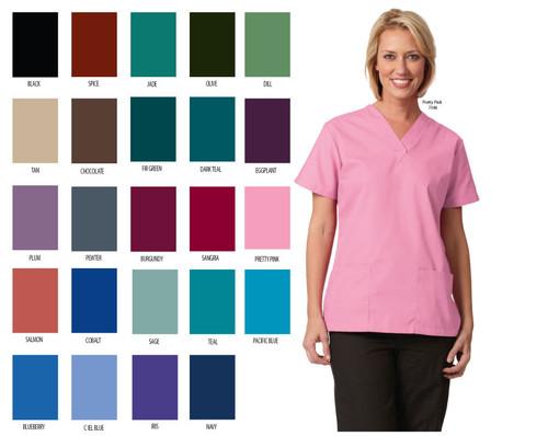 Medical scrub tunic for women