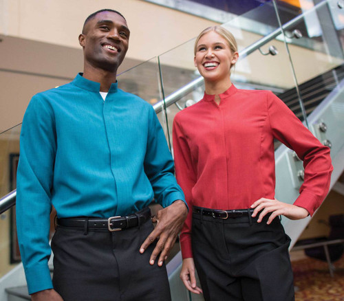 Easy wear and easy care casino uniform shirt.