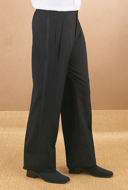 Pleated Front Waitress Tuxedo Pants