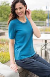 Feminine Scoop Neck Sweater Uniform