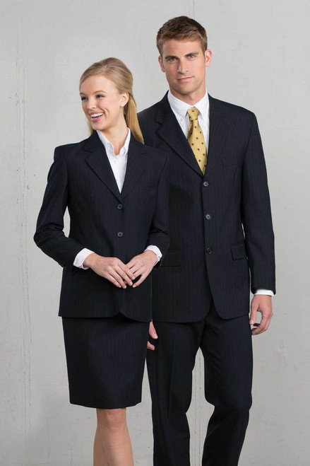 9769 Women's Navy Pinstripe Suiting