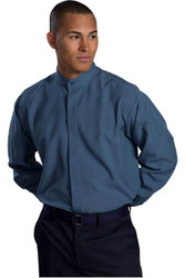 Men's Batiste Banded Collar Waiter Shirt