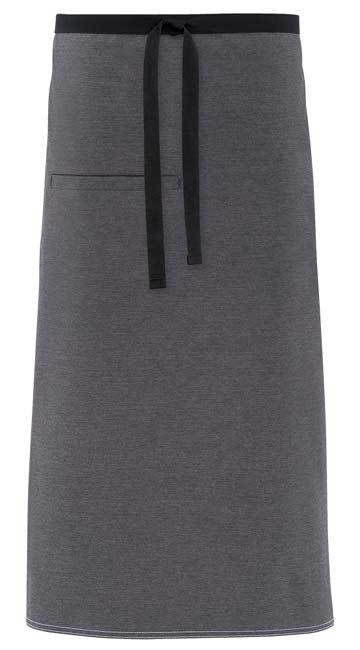 Server uniform aprons with urban look contrast ties.