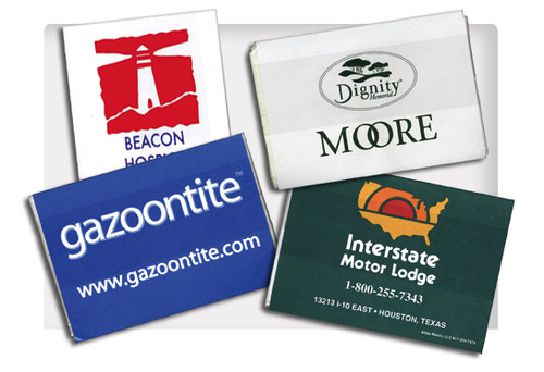 Customize these tissue packets with your company logo
