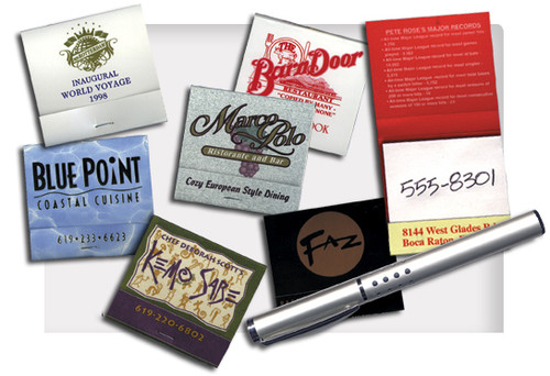 Add your logo to these scratch books for advertisement