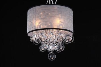 Elegant organza shade flush mount chandelier