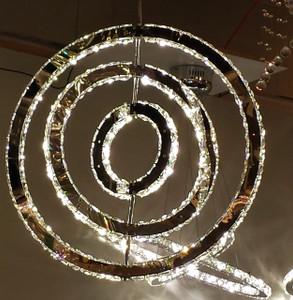 Grand Sphere Crystal LED Fixture