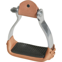 Western Stirrups USA Silver Brown