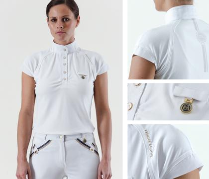 Premier Equine Empoura Competition Shirt White