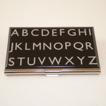 """Alphabet"" Card Case"