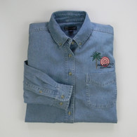 Woman's Long Sleeve Denim Shirt