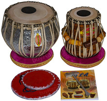 MUKTA DAS Ganesha Chrome Tabla Drum Set, 4KG Copper Bayan