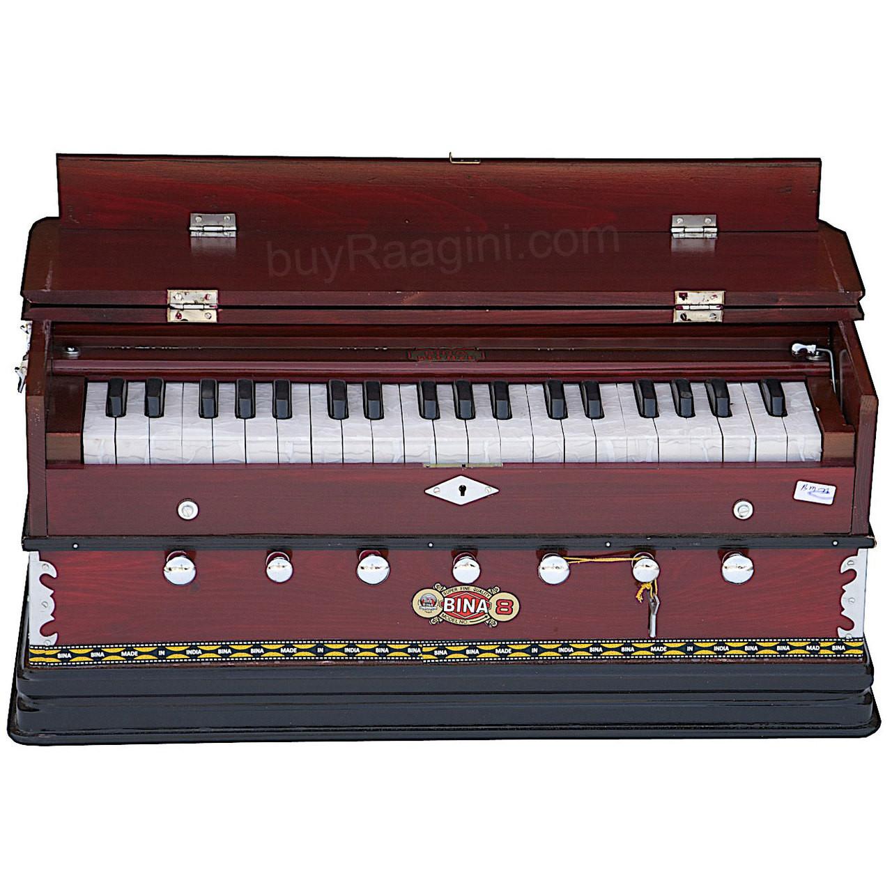 BINA NO  8 Harmonium, 2 Reeds, 3 25 Octaves, 7 Stops, Rosewood AGD