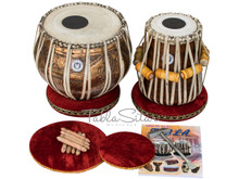MAHARAJA MUSICALS 4KG Concert Goddess Saraswati Copper Tabla with Bag CJI