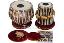 MAHARAJA MUSICALS 3.5Kg Flower Design Tabla, Copper Bayan Sheesham Dayan BHJ