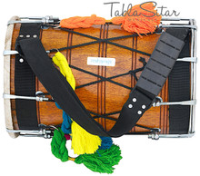 MAHARAJA Junior Punjabi Dhol, Natural Color, Mango Wood, For Kids BGD