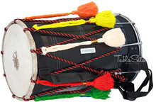 MAHARAJA Junior Dhol, Mango Wood, Punjabi Bhangra Dhol For Kids ACI