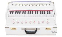 MAHARAJA Harmonium, Safri, 9 Stop, White, A440, 42 Keys, Coupler AHG