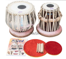 MAHARAJA Classic Tabla Set, 3 Kg Brass Bayan, Finest Dayan, Hammer CG