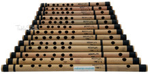 MAHARAJA Set of 13 Pcs Basic Bansuri - Indian Bamboo Flute Set ADJ