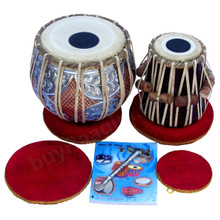 MAHARAJA Concert Twin Color Tabla, 4.5Kg Copper Bayan, Finest Dayan GJ