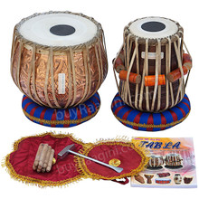 MAHARAJA Floral Tabla Set, 3KG Copper Bayan, Finest Dayan, Gig Bag EB
