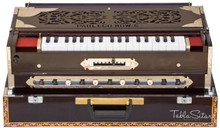 Paul & Co. Harmonium - 3 Reeds, 9 Scale Changer, Dark Mahogany Color