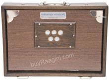MAHARAJA MUSICALS Concert Shruti Box, Walnut Color With Bag - FAH