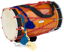 MAHARAJA Punjabi Dhol, Natural Color, Straight, Mango Wood - DBH