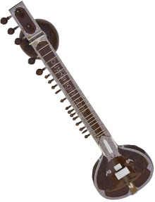 Jayanta Sengupta Sitar, Ravi Shankar Style, Double Toomba - With Fiber Trolley for sale