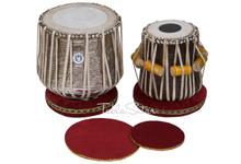 MAHARAJA MUSICALS Dhama Jori, Floral Brass Dhama, Sheesham Dayan(Tabla) EBG