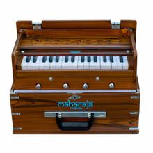 MAHARAJA Harmonium, Kirtan Harmonium, Portable In-Flight Edition, 9 Stop, Natural Color, A440, 32 Keys, Model KH2