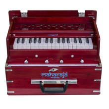 MAHARAJA Harmonium, Kirtan Harmonium, Portable In-Flight Edition, 9 Stop, Rosewood Color, A440, 32 Keys, Coupler, Model KH3