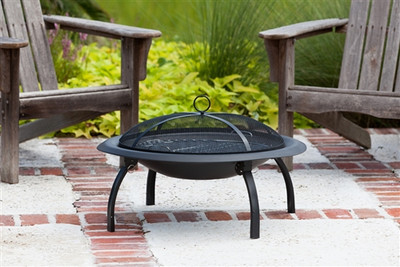 Folding Portable Fire Pit with Cook Top - 29""