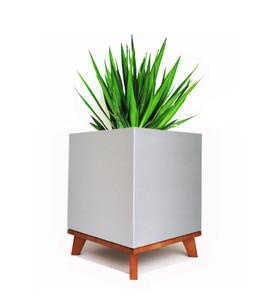 Aluminum Cube Planter Madeira