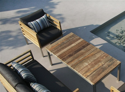 Modern Teak  Bogard Outdoor Coffee Table