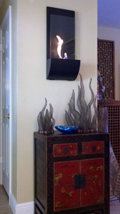 Torchia Vent Free Wall Mount Fireplace