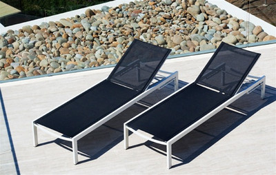 Harbour Outdoor Piano Ferrari Batyline Mesh Sun Lounger