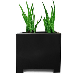 Alora Square Planter - Black