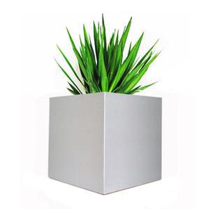 Alora Square Planter - Silver