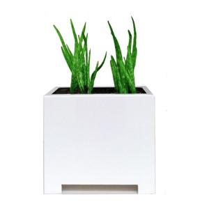Alora Square Planter - White
