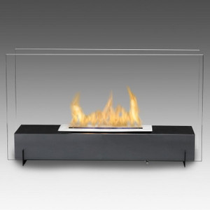 Vision I Linear Vent Free Fireplace Black