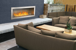 "GSS48 48"" linear outdoor fireplace"